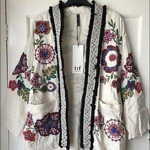 NWT Zara Embroidered Kimono